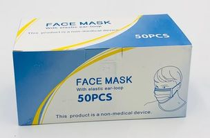 Disposable Face Mask - Full Box of 50