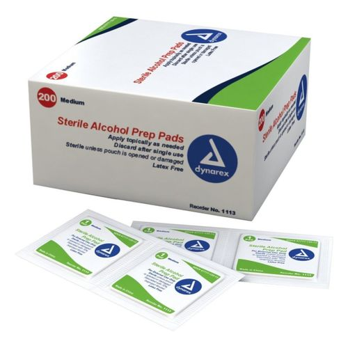 IN STOCK Lightning X EMS Alcohol Prep Pads - Box of 200