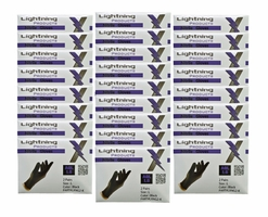 Lightning X EMS Black Nitrile Gloves - Large (50 pairs)