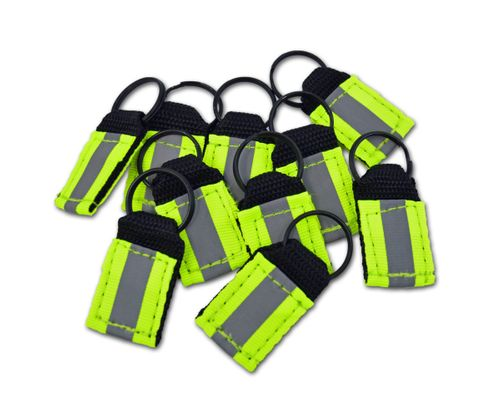 Lightning X Hi-Vis Reflective Ballistic Nylon Zipper Pulls for EMT, Tactical and Safety Bags