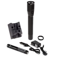 NightStick Polymer Multi-Function Duty/Personal-Size Dual-Light Flashlight - Rechargeable BLACK