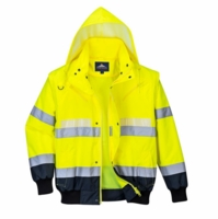 Portwest Glowtex 3-In-1 Hi-Vis Safety Bomber Jacket