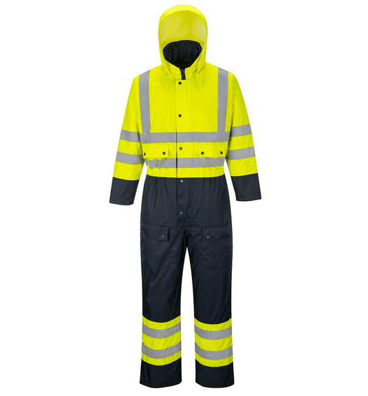 Waterproof Quilt Lined ANSI Class 3 S-6X Portwest S485 Hi Vis Contrast Coverall