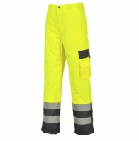 Portwest Hi-Vis Contrast Pants - Lined
