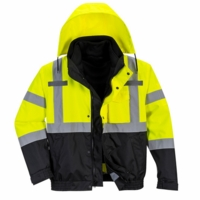 Portwest Hi-Vis Premium 3-in-1 Bomber Jacket