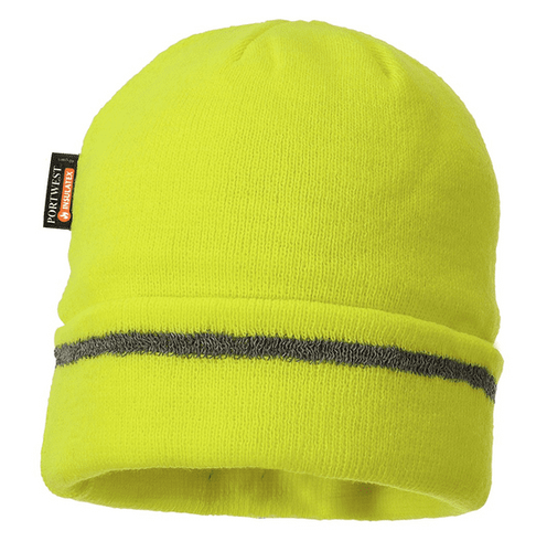Portwest Reflective Trim Knit Hat - Insulatex Lined