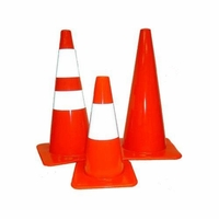 Pro-Line Traffic Safety 28 Inch Traffic Cones - 5 Pack