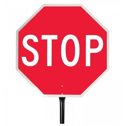 Pro-Line Traffic Safety Stop/Stop Reflect Paddle Sign