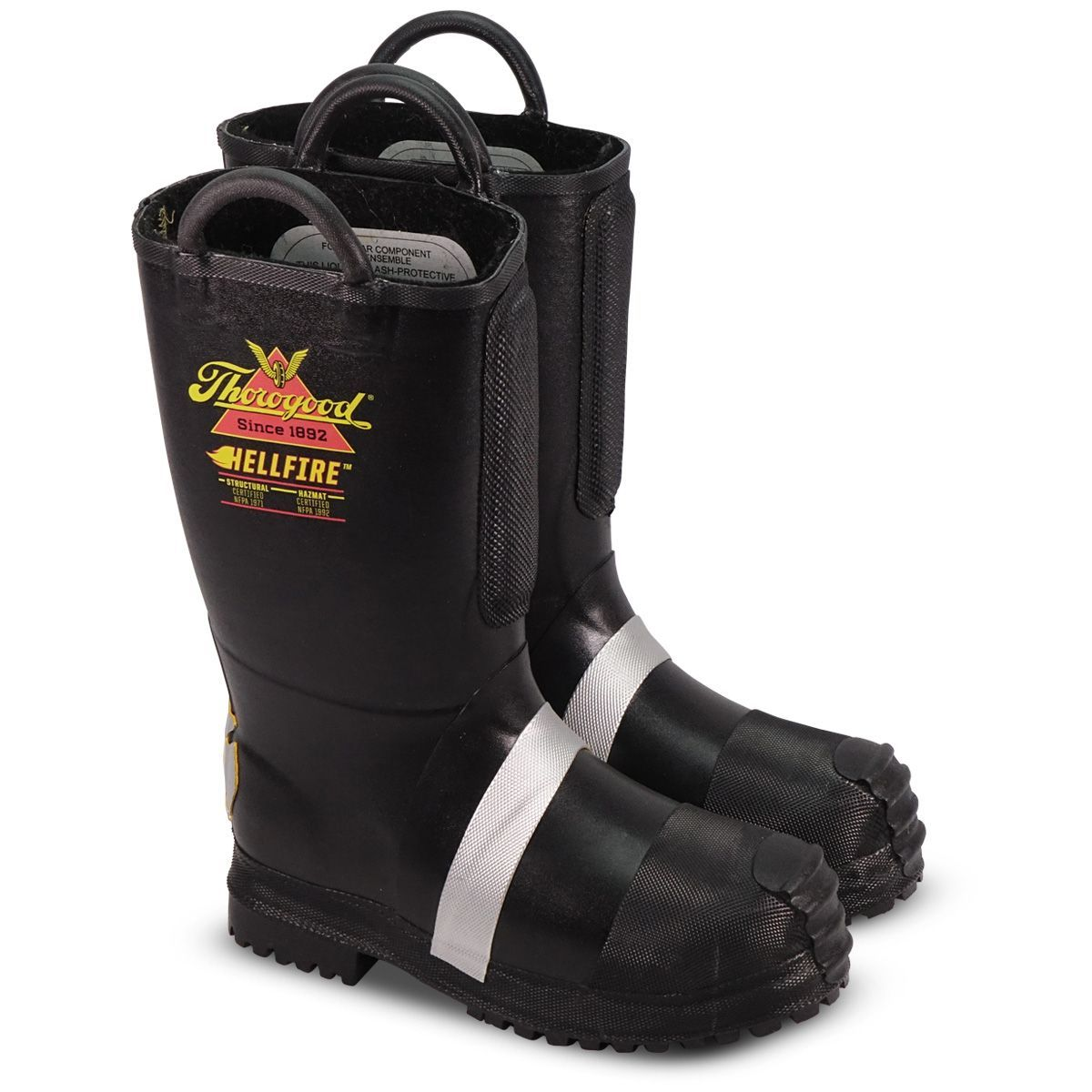 04ee0f61a6f LION by Thorogood Hellfire Rubber Fire Boot W/ Lug Sole 807-6003