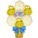 Happy Birthday Bee Cookie Bouquet