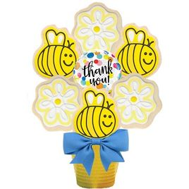 Thank You Bee Cookie Bouquet
