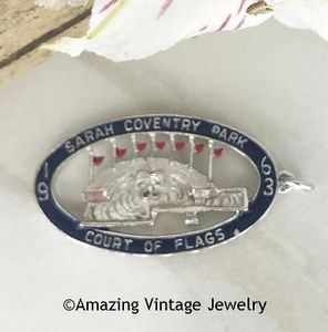 1963 COURT OF FLAGS Award Pendant Charm