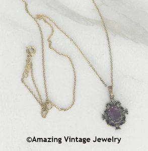 ANTIQUED AMETHYST Necklace
