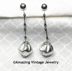 CAFE SOCIETY Earrings Silvertone