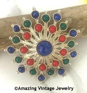 CARNIVAL Pin - Red, Blue, Green
