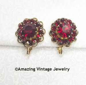 DEEP BURGUNDY Earrings