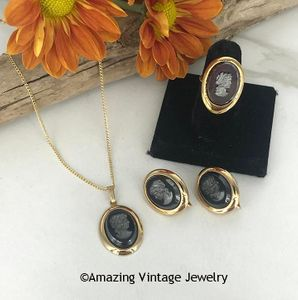 EVENING PROFILE Set - Necklace, Earrings, & Ring
