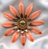 FASHION PETALS Pin - Orange