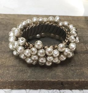 Faux Baroque Pearl Expansion Bracelet