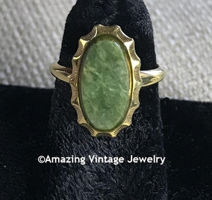 GENUINE JADE Ring - Lady Coventry - Size 6
