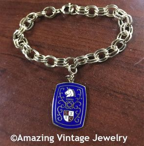 Goldtone Bracelet with SC Coat of Arms Charm