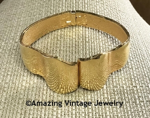 Goldtone Hinged Bracelet