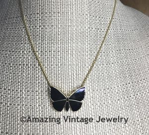 MIDNIGHT BUTTERFLY Necklace