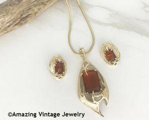 MOLTEN TOPAZ Necklace & Earrings Set
