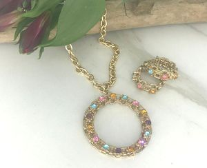 PICADILLY CIRCLE Necklace & Earrings Set