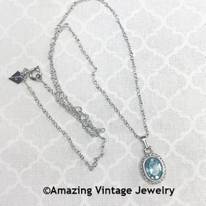 SARAH'S BIRTHSTONE PENDANT - March Aquamarine