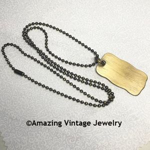 SARAH'S DOG TAG Necklace