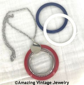 SPANGLE BANGLES Necklace - Red, White, Blue