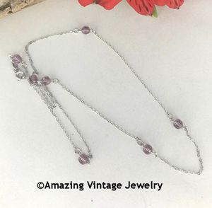 STERLING BIRTH CHAIN - June Alexandrite