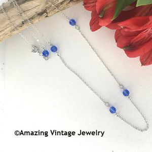 STERLING BIRTH CHAIN - September Sapphire