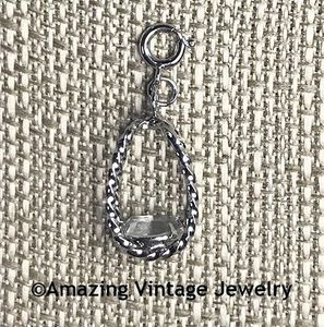 STERLING SILVER CHARMS - April White Sapphire
