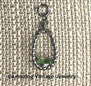 STERLING SILVER CHARMS - August Peridot