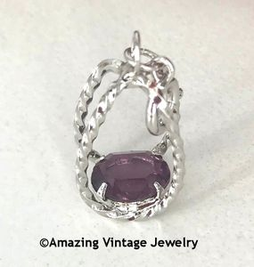 STERLING SILVER CHARMS - February Amethyst