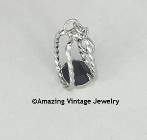 STERLING SILVER CHARMS - January - Garnet