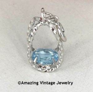 STERLING SILVER CHARMS - March Aquamarine