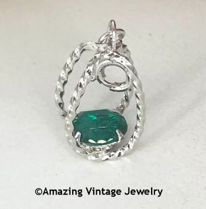 STERLING SILVER CHARMS - May Emerald