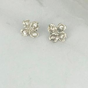 STUART NYE Sterling Dogwood Earrings
