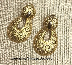 TWO-TIMER Earrings - Goldtone