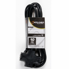 Accu-Cable AC POWER EXTENSIONS BLACK CABLE