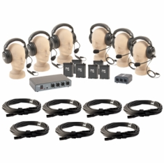 Anchor Audio COM-60FC/C - PortaCom Six User Package with Cables