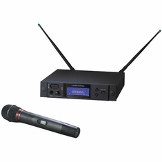 AUDIO-TECHNICA AEW-4240AD 4000 Series Wireless System includes: AEW-R4100 receiver and AEW-T4100a cardioid dynamic microphone/transmitter, 655.500-680.375 MHz (TV 44-49)
