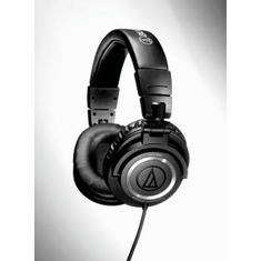 AUDIO-TECHNICA ATH-M50 Closed-back dynamic monitor headphones, collapsible design, coiled cable