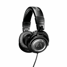 AUDIO-TECHNICA ATH-M50S Closed-back dynamic monitor headphones, collapsible design, straight cable