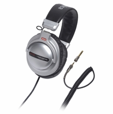 AUDIO-TECHNICA ATH-PRO5MK2SV Closed-back dynamic stereo DJ monitor headphones, silver