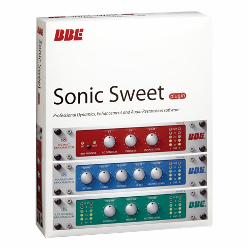 BBE SONIC SWEET Comprising the D82, H82 and L82 in one package; three professional and easy to use Dynamics, and Audio Enhancement plug-ins