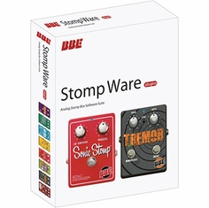 BBE STOMP WARE Eight easy to use stomp box plug-ins, Suite includes: Free Fuzz, Green Screamer, Mind Bender, Opto Stomp, Sonic Stomp, Soul Vibe, Tremor and Two Timer